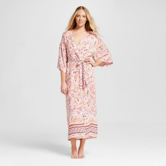 Gilligan and O'Malley Long Robe Paisley Print